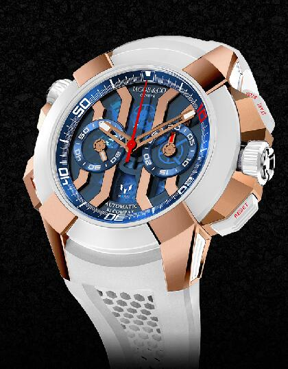 Jacob & Co EC312.42.PD.LL.A Epic X Chrono Messi Titanium - Rose Gold Replica watch