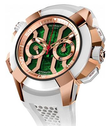 Jacob & Co EC312.42.PB.GN.A Epic X Chrono Rose Gold Green Dial Replica watch