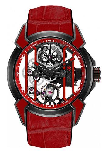 Jacob & Co EX100.21.RR.RW.A Epic X RACING Red Replica watch