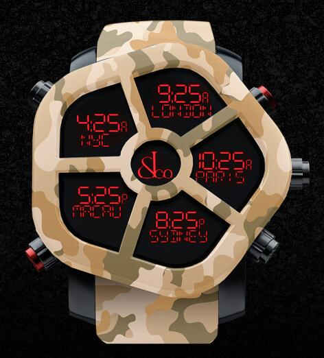 Jacob & Co GH100.11.NS.PC.AMQ4D GHOST CARBON CAMOUFLAGE Men Replica watch