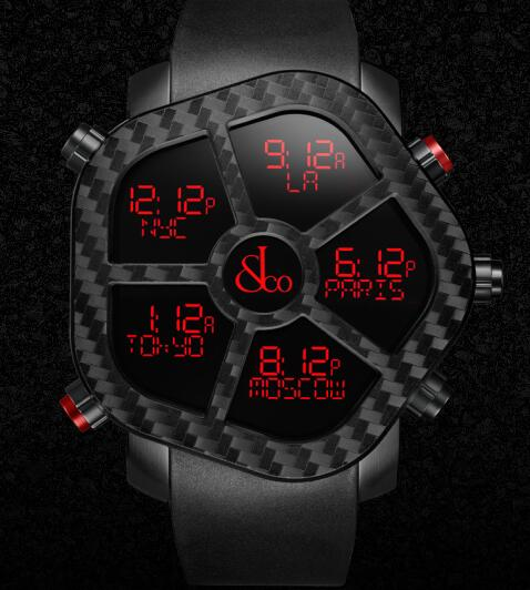 Jacob & Co GH100.11.NS.PC.ANA4D GHOST CARBON Men Replica watch