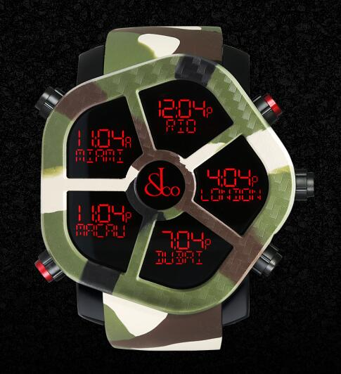 Jacob & Co GH100.11.NS.PC.ANO4D GHOST CARBON CAMOUFLAGE Men Replica watch