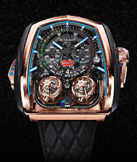 Jacob & Co Twin Turbo Furious Bugatti TT200.40.AB.AB.A Replica watch