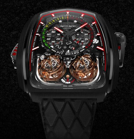 Jacob & Co TT200.21.NS.NK.A Twin Turbo Furious Grand Complication Masterpieces Replica watch