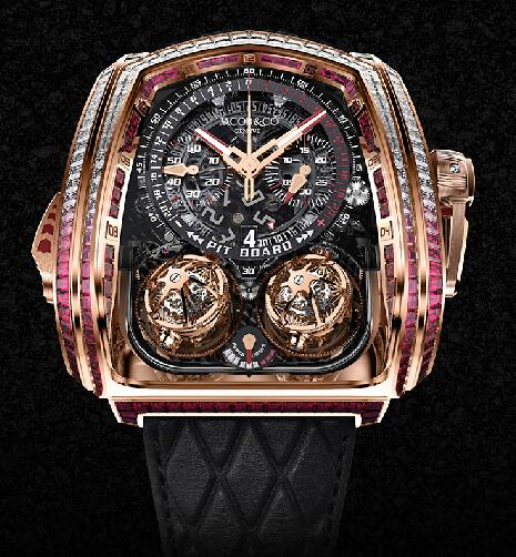 Jacob & Co TT800.40.BR.AA.A Twin Turbo Furious Baguette Replica watch