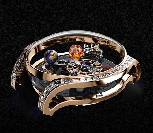 Jacob & Co Replica watch Astronomia Solar Baguette AS800.40.AP.YK.A