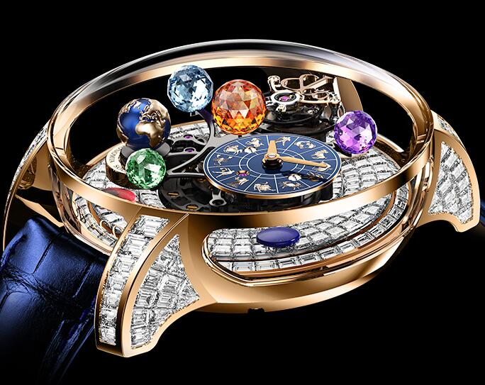 Jacob & Co Replica watch Astronomia Solar Baguette Jewellery Planets Zodiac AS910.40.BD.BD.A