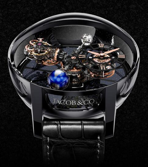 Jacob & Co Replica watch ASTRONOMIA TOURBILLON BLACK CERAMIC BLACK & ROSE GOLD MOVEMENT AT100.40.95.KN.SD.B