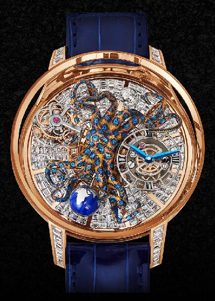 Jacob & Co Replica watch Grand Complication Masterpieces Astronomia Octopus Baguette AT802.40.BD.UA.A