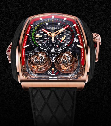 Jacob & Co Replica watch TT200.40.NS.NK.A Grand Complication Masterpieces Twin Turbo Furious