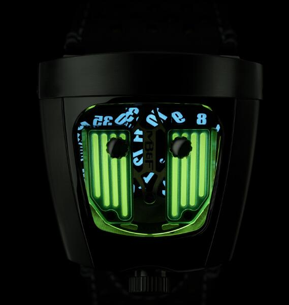 MB&F HMX BLACK BADGER RADAR GREEN 57.STGL.B Replica Watch