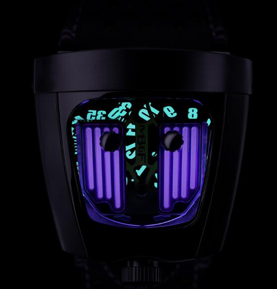 MB&F HMX BLACK BADGER PURPLE REIGN 57.STPL.B Replica Watch