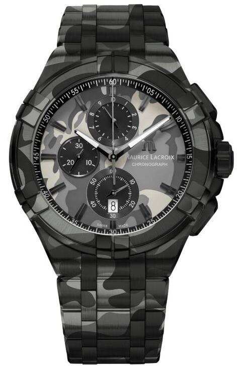 Maurice Lacroix AIKON Chronograph Camouflage AI1018-PVB02-336-1 Replica Watch