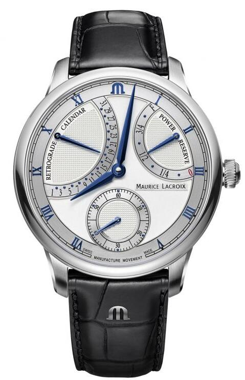 Maurice Lacroix Masterpiece Retrograde Calendar 43mm MP6568-SS001-132-1 Replica Watch