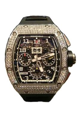 Richard Mille Replica Watch RM 011 RG Medium set Diamonds 511.041.91