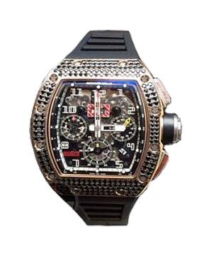 Richard Mille Replica Watch RM 011 Medium set Black Sapphire 511.042A.91
