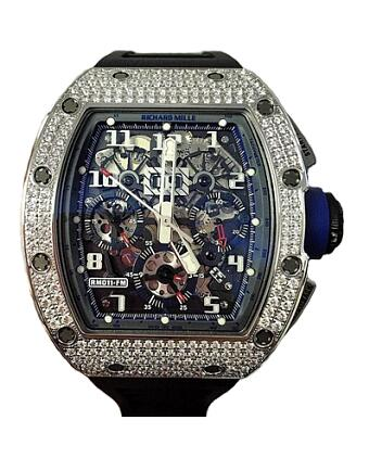 Richard Mille Replica Watch RM 011 WG Medium set Diamonds 511.061.91