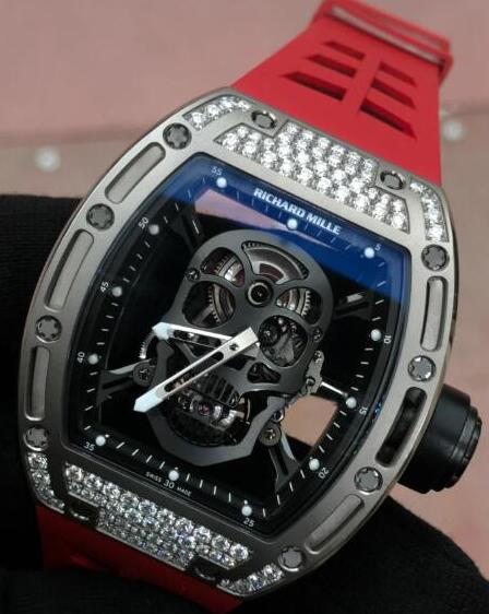 Richard Mille RM 52 TOURBILLON SKULL Titanium Diamonds Replica Watch