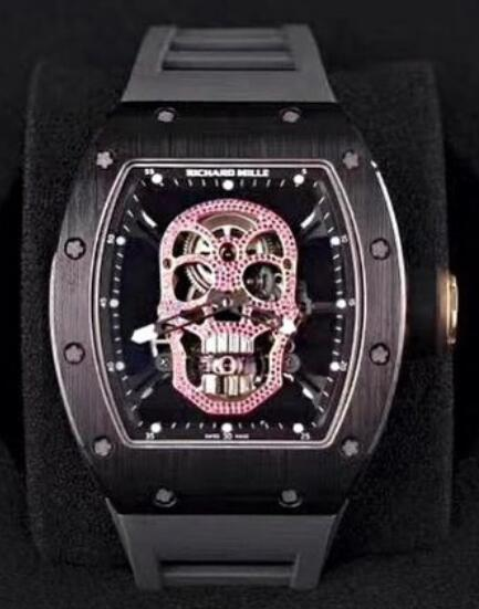 Richard Mille RM 52-01 Red Diamonds Skull Tourbillon Replica Watch