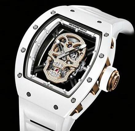 Richard Mille RM 52-01 Skull Tourbillon White Diamonds Replica Watch