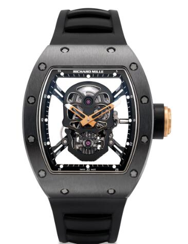 Richard Mille RM 52-01 TOURBILLON Black SKULL Replica Watch