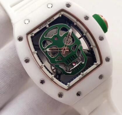 Richard Mille RM52 Tourbillon Green Skull Replica Watch