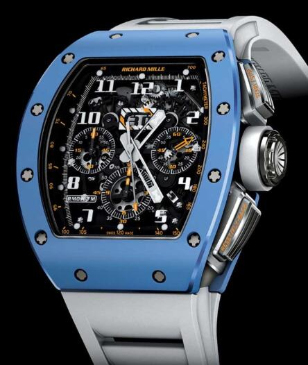 Richard Mille Replica Watch RM 011 Blue Ceramic
