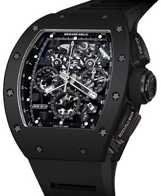Richard Mille Replica Watch RM 011 Felipe Massa Black Phantom TZP