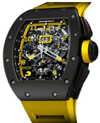 Richard Mille Replica Watch RM 011 Felipe Massa Carbon Yellow