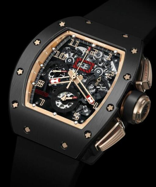 Richard Mille Replica Watch RM 011 Felipe Massa Flyback Chronograph Black Kite