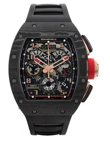 Richard Mille Replica Watch RM 011 NTPT Carbon Lotus F1 Team 511.72BH.91-1