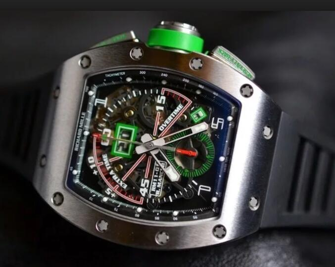 Richard Mille Replica Watch RM 011 Roberto Mancini Titanium Flyback Chronograph