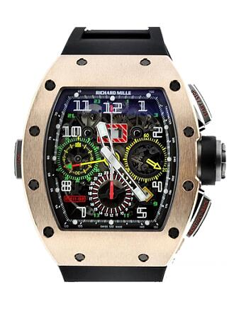 Richard Mille Replica Watch RM 011-02 Gold Flyback Chronograph Dual Time Zone