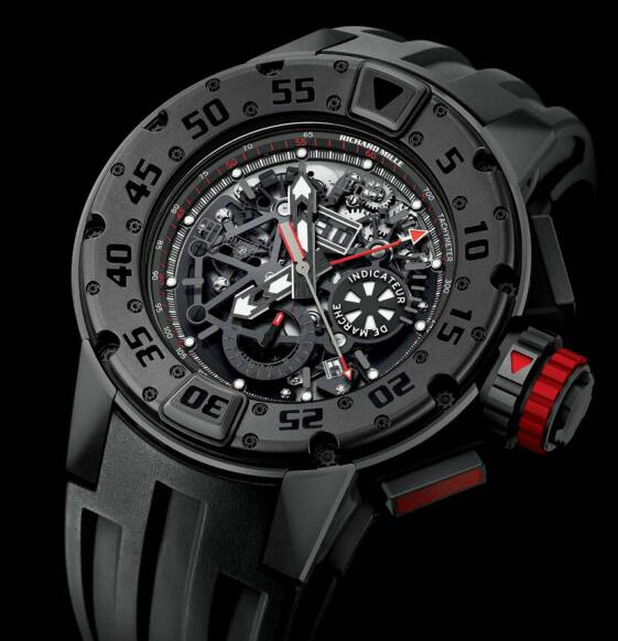 Richard Mille Replica Watch RM 032 Dark Diver Chronograph Brown PVD 532.45C.91D-1