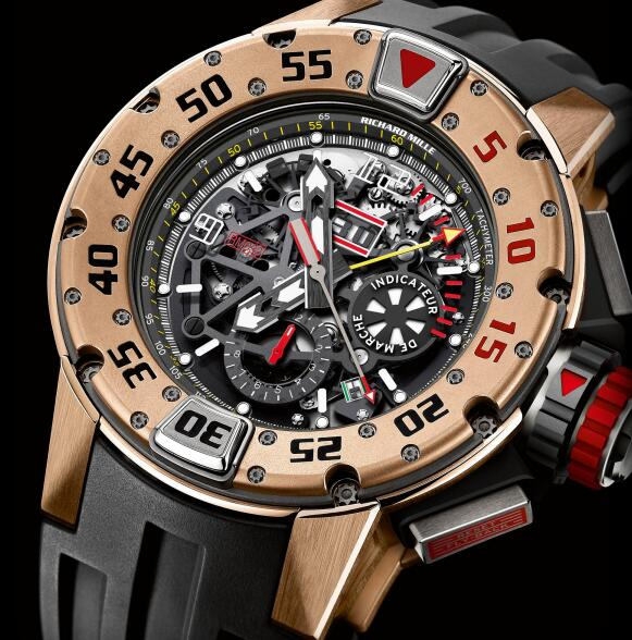 Richard Mille Replica Watch RM 032 Diver Rose Gold 532.04.91