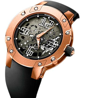 Richard Mille Replica Watch RM 033 Extra Flat Automatic Pink Gold