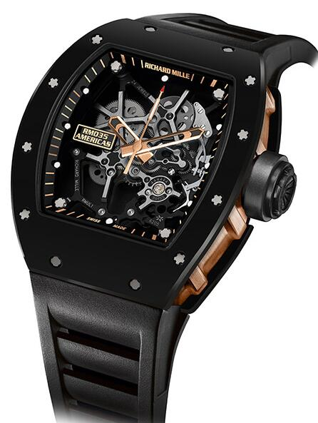Richard Mille RM 035 Black Toro Replica Watch