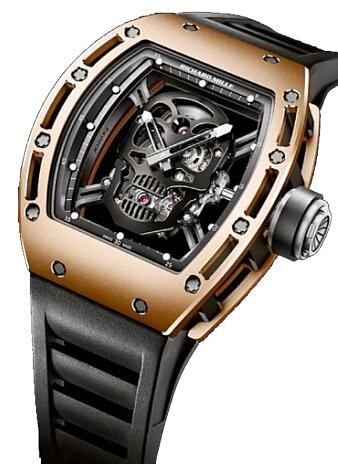 Richard Mille Replica Watch Gold RM 052 Skull