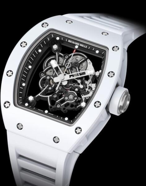 Richard Mille Replica Watch White RM 055 Bubba Watson