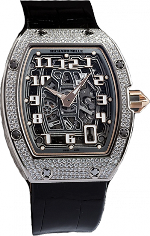 Richard Mille Replica Watch RM 067 Automatic Extra Flat RM 067-01 WG Diamond