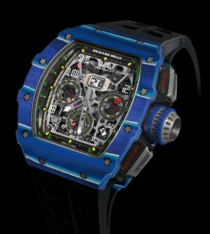 Richard Mille Replica Watch RM 11-03 Jean Todt 50th Anniversary Blue FLYBACK