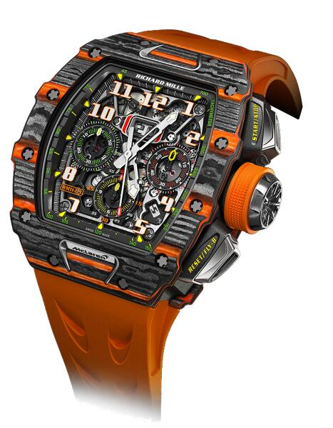 Richard Mille Replica Watch RM 11-03 McLaren RM 011 Flyback chronograph