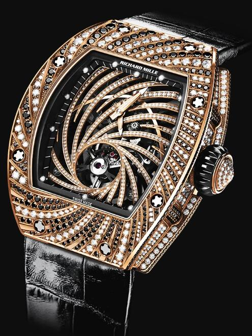 Richard Mille RM 51-02 Manual Winding Tourbillon Diamond Twister Gold Watch Replica
