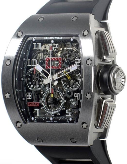Richard Mille Replica Watch RM-011 Felipe Massa White gold