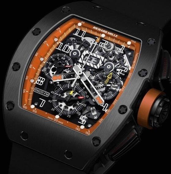 Richard Mille Replica Watch RM011 America LE Ti Orange