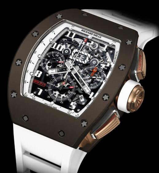 Richard Mille Replica Watch RM011 Flyback Brown Ceramic LE