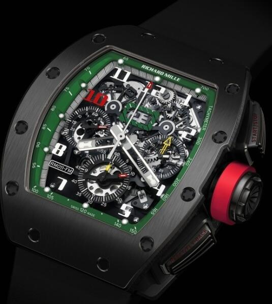 Richard Mille Replica Watch RM011 Mexico Green