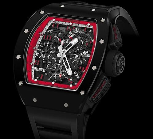 Richard Mille Replica Watch RM011 Midnight Fire - TZP Ceramic and NTPT