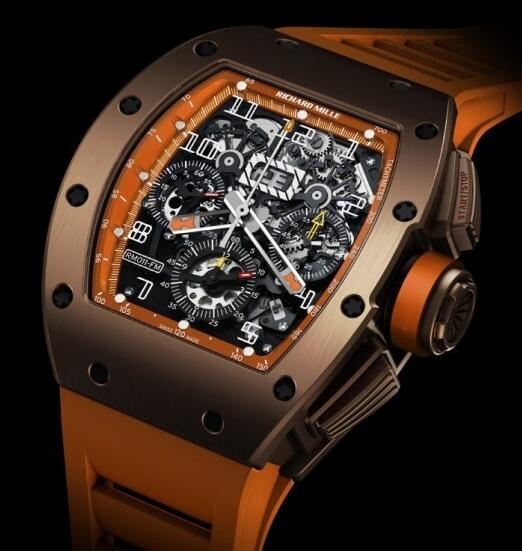 Richard Mille Replica Watch RM011 Ti Brown Orange