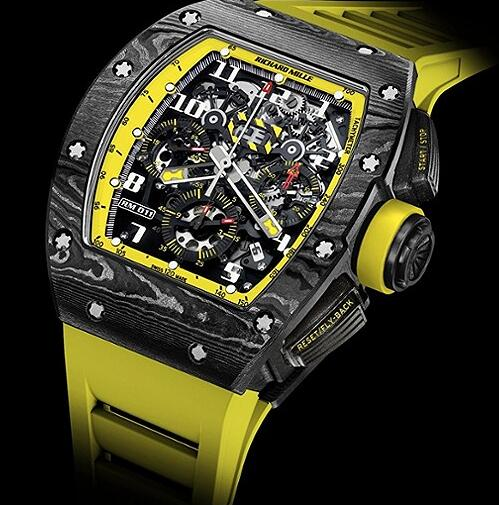 Richard Mille Replica Watch RM011 Yellow Storm
